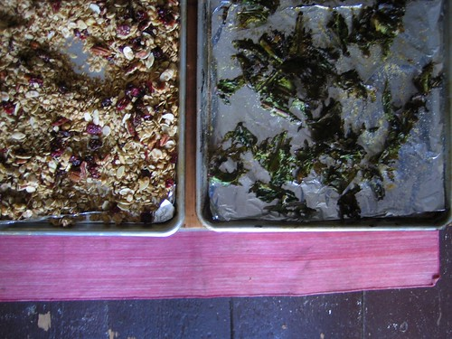 granola and kale chips