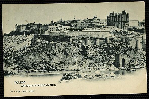 Baño de la Cava (Toledo) a principios del siglo XX. Foto Hauser y Menet