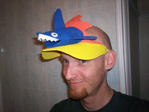 umm, do you know you have a shark on your head?