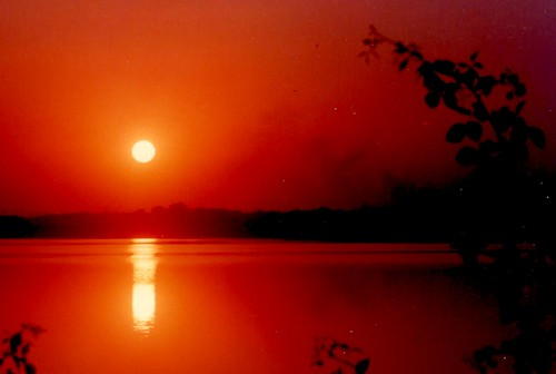 Sunset at Ambazari lake Oct, 1991