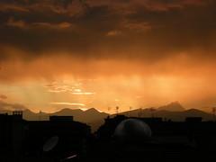 cuneo..per una volta rossa!! (g.fulvia) Tags: sunset sky tramonto colours cielo cuneo raccontarelanatura