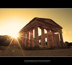 Segesta - Greek Temple backlight (ciccioetneo) Tags: old history p