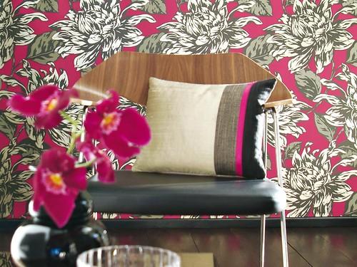 Exuberance Floral wallpaper