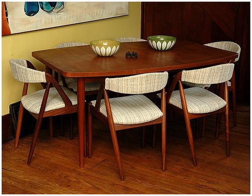 Teak Dining Table  w/ Kai Kristiansen Chairs