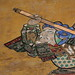 "瓦製狛犬と絵馬「橋弁慶」 The Tile Guardian Dogs and Ema of ""Hashi-benkei"", Oshima-Hachimansha"