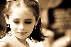 The Princess of Tobaccoland (Universal Stopping Point) Tags: girl child kentucky parade winner pageant beautyqueen sandyhook preteen tobaccofestival sepiapresetexposure