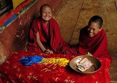 Bhutan (Ziemek T) Tags: bhutan monks paro alms parodzong lpvibrant