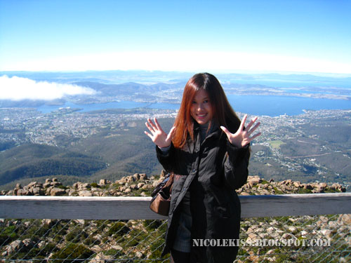 me posing on mount wellington