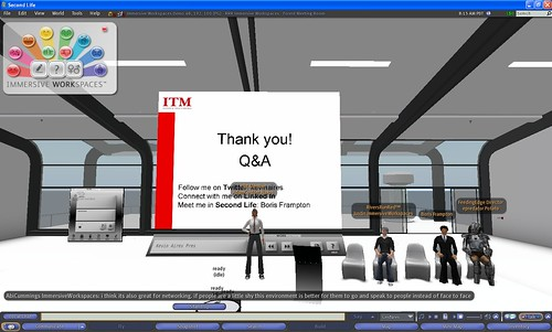 EventUK seminar on Second Life IN Second Life