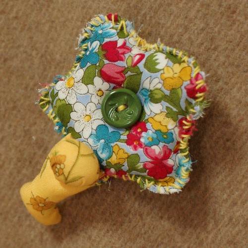 Bobo flower brooch