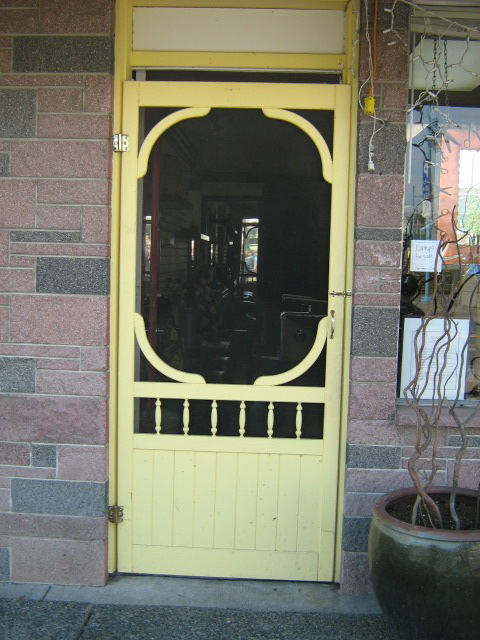 Yellow Screen Door, Steveston, B.C.