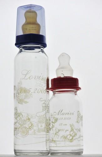 Gravierte Babyflaschen-save