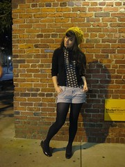 nashville date night (bloomingleopold) Tags: night vintage urbanoutfitters tights thrift shorts hm forever21 bloomingleopold