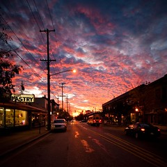 september sunrise (numstead) Tags: sky urban clouds sunrise michigan september east uptown grandrapids eastfultonatdiamond