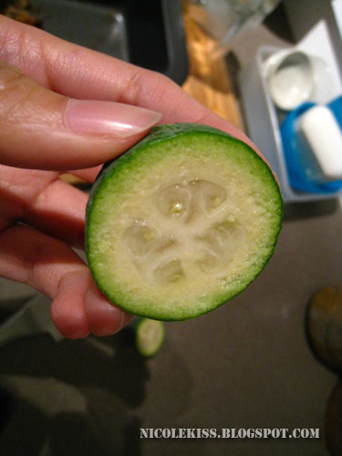 feijoa fruit half