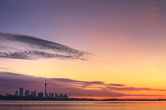 Gooooooooood Morning :) (YYZDez) Tags: city lake toronto ontario canada skyline sunrise landscape dawn bay twilight cityscape canon5d lakeontario magichour goldenhour ineffable humberbaypark humberbay abigfave canonef70200f4isl