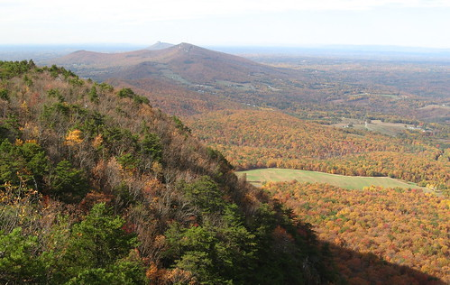 Pilot Mountain way off in the distance