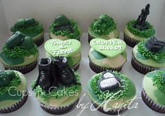 Army Theme Cupcakes (CupsNCakes) Tags: green cakes by army cupcakes n celebration cups camouflage hanita themecupcakes cupcakesinsingapore halalcupcakes