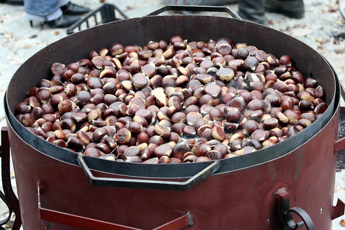 Chestnuts on the grill
