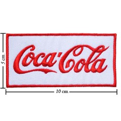AD0034 - AD White Coca Cola Coke Iron On Patch (ShinyshineStore) Tags: iron patches embroidered advertise