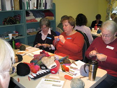 First Thrumming Workshop - Busy Knitters!