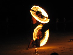 Fire show at Ploy's, Sai Kaew beach, Ko Samet