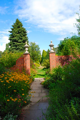 Down the Garden Path Again at Great Comp... (antonychammond) Tags: uk flowers blue trees friends england sky green garden kent britain path gateway shrubs pathway supershot flickraward firsttheearth greatcompgarden winnr pathscaminhos mallmixstaraward arkiesnaturegroup