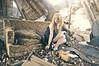 (yyellowbird) Tags: ohio house selfportrait abandoned girl couch toledo cari