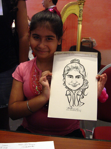 Caricature live sketching for Marina Square X'mas Tenants Gathering 2009 - 16
