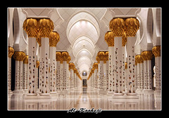 Sheikh Zayed Mosque 2 (Al-Kooheji) Tags: roses white wall gold design photo pattern arch muslim united uae columns perspective picture middleeast culture arches pic mosque emirates zayed abudhabi arab sheikh masjid  islamic         masjed                   alkooheji
