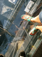 Don't Look Down (seaotter22) Tags: chicago feet glass look shoes sandals down lookdown willistower