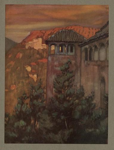 012- La Alhambra a la puesta del sol-An artista in Spain 1914- Michael Arthur C.