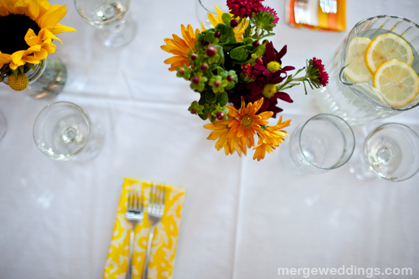 Flowers and Napkins