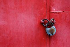 locked up crimson (ion-bogdan dumitrescu) Tags: door red up key doors lock garage romania locked bucharest imprisoned bitzi ibdp mg1417 ibdpro wwwibdpro ionbogdandumitrescuphotography gettysecondtryb
