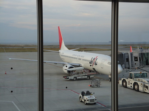 JAL's B737 at KOBE AP