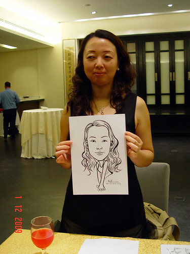 Caricature live sketching for Siam Express - 4