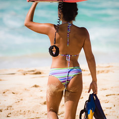 North Shore Bodyboarder (konaboy) Tags: woman beach girl hawaii surf oahu surfer babe surfing northshore pipeline bodyboarding distraction bodyboard wahine bodyboarder okole img4157