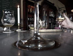 Saturday afternoon (Seapony) Tags: beer glass caf glasses pub utrecht candle hand wine bottles cheers etc seapony demorgenster cafdemorgenster