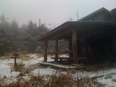 Mount LeConte Shelter in Bad Weather