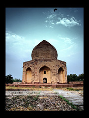 Tomb of Asif Khan (Sajjad Tufail.) Tags: ocean life old pakistan light sunset orange sun macro building nature leaves mobile set night canon buildings landscape photography photo leaf petals construction long phone shot natural photos sony tomb cybershot palm petal historical rays khan majestic mighty challenge asif cyber mughal sajjad h50 tufail sonyphotochallenge