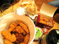 we are such fatties (deeeelish) Tags: chicken wings fries coleslaw