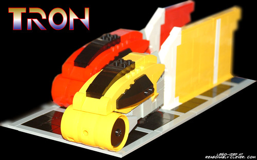 TRON LEGO Lightcycles Wallpaper