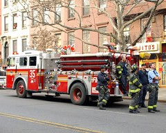 """E035e FDNY """"Still First"""" Engine 35, East Harlem, New York City (jag9889) Tags: county city nyc ny newyork truck fire restaurant harlem manhattan engine company borough 35 fdny 2009 department firefighters mojitos seagrave bravest engine35 116street y2009 e035 jag9889"""