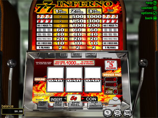 Triple 7 Inferno slot game online review