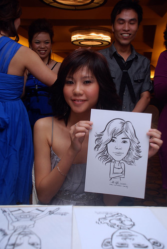 Caricature live sketching for Hock Cheong Printing Pte Ltd D&D 2009 - 9