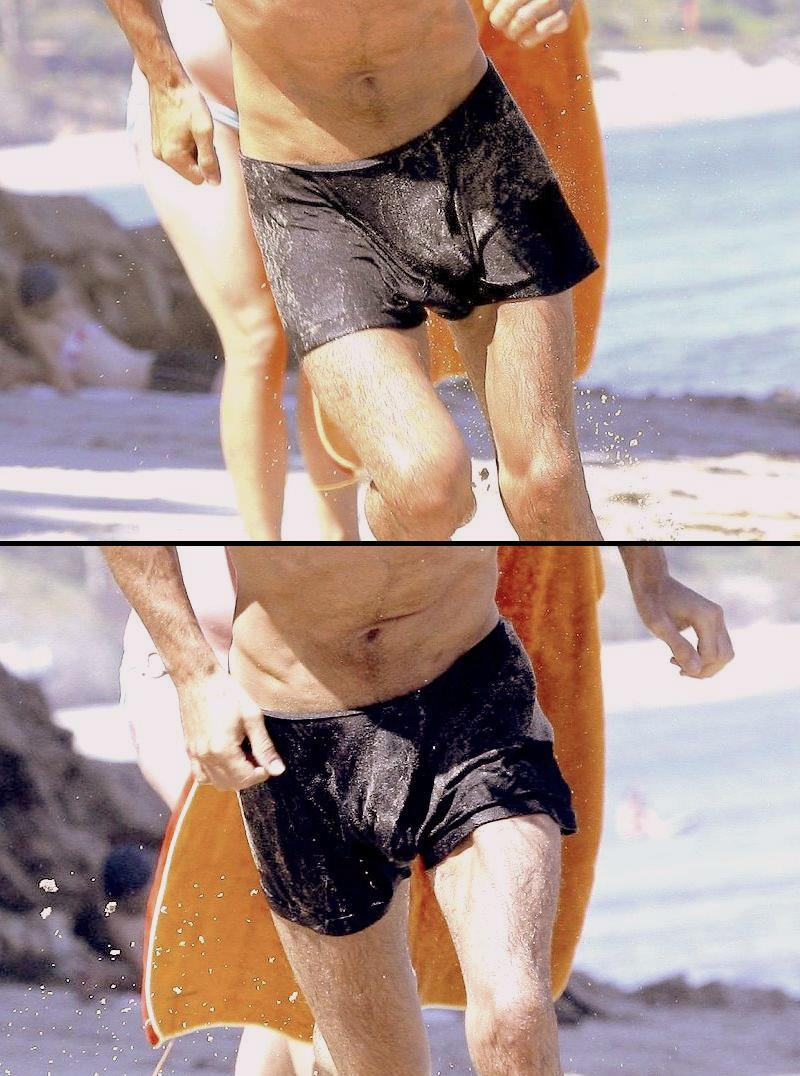Beach Bulge http://bigbulgehunk.blogspot.com/2009/12/skinny-colin-farrell-bulging-at-beach.html