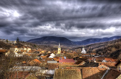 Passing clouds (AragianMarko) Tags: winter europe romania hdr oldcity banat oravita carasseverin mtiianinei