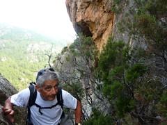 Vire du Castellu : après l'escalade du mur