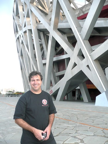 Beijing Olympic Stadium - Me Outside