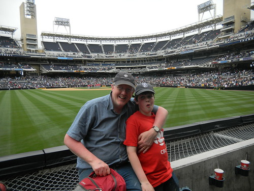 Nick and I after the Padres game